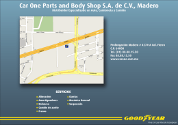 Car One Parts and Body Shop S.A. de C.V., Madero