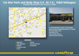 Car One Parts and Body Shop S.A. de C.V., Fidel Velázquez