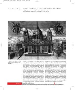 Martino Ferrabosco, el Libro de l`Architettura di San Pietro nel