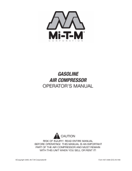 GASOLINE AIR COMPRESSOR - Mi-T