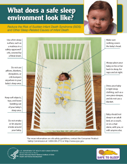 What does a safe sleep environment look like?