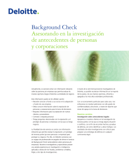 Background Check Asesorando en la investigación de