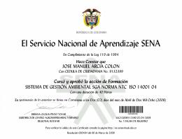 El Servicio Nacional de Aprendizaje SENA