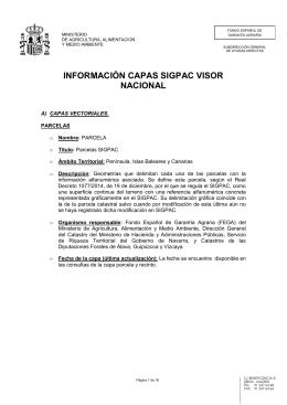 información capas sigpac visor nacional