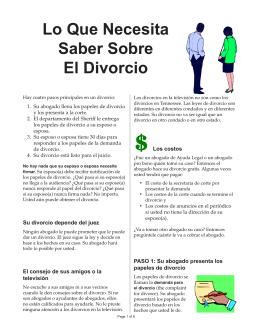 Lo Que Necesita Saber Sobre El Divorcio