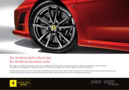 Kit Scuderia Style wheel rims Kit de llantas Scuderia estilo