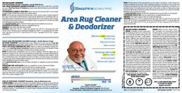Area Rug Cleaner & Deodorizer Area Rug Cleaner & Deodorizer