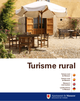 Turisme rural - Ajuntament de Manacor