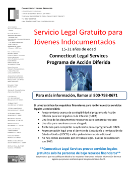 Servicio Legal Gratuito para Jóvenes Indocumentados
