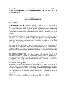Ley No. 253-12 - Dirección General de Impuestos Internos
