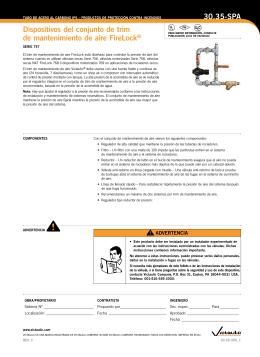 Dispositivos del conjunto de trim de mantenimiento de