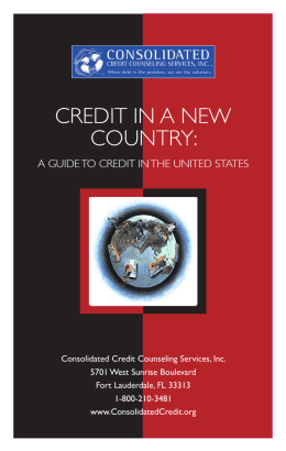 CREDIT IN A NEW COUNTRY: - Prestige Professional Management