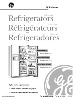 Refrigerators Réfrigérateurs Refrigeradores