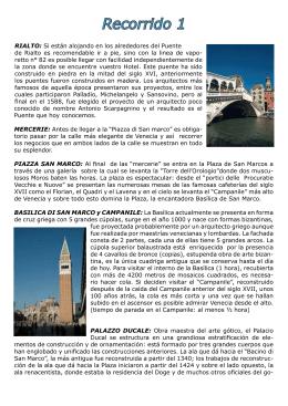 Recorrido 1 - Venezia.Net