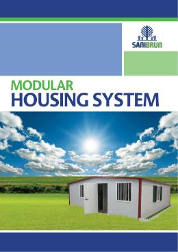 SANIBRUN`s unique modular housing concept
