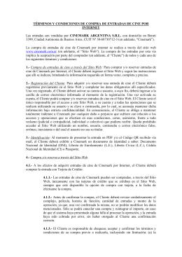 TÉRMINOS Y CONDICIONES DE COMPRA Y