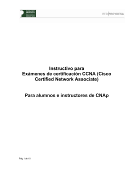 Instructivo para Exámenes de certificación CCNA (Cisco Certified