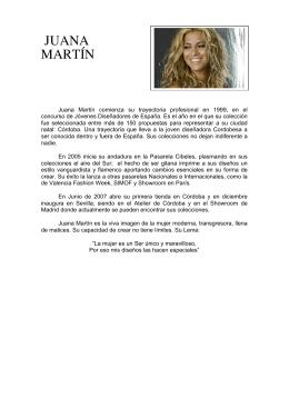 Currículum de Juana Martín