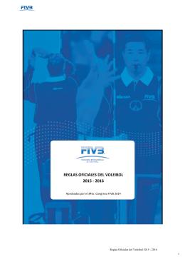 REGLAS OFICIALES DEL VOLEIBOL 2015 -‐ 2016