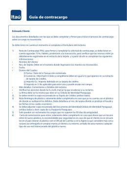 Guía de contracargo y reclamo