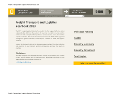 Freight Transport and Logistics Yearbook 2013