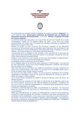 BANDA DE CORNETAS Y TAMBORES CRISTO RESUCITADO DE