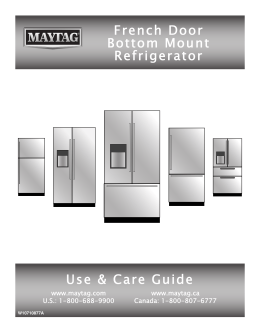 French Door Bottom Mount Refrigerator Use & Care Guide