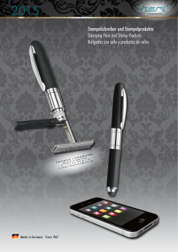 Stempelschreiber und Stempelprodukte Stamping Pens and