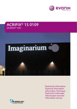 ACRIFIX® 1S 0109 - Notz Plastics AG