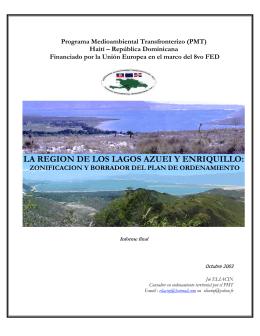 LA REGION DE LOS LAGOS AZUEI Y ENRIQUILLO: