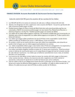 Lista de Control del GD para la Revisión de la Situación de las