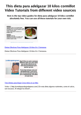Z dieta para adelgazar 10 kilos cormillot PDF video books