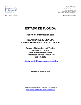 ESTADO DE FLORIDA - Department of Business and Professional