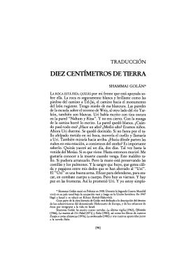 DIEZ CENTÍMETROS DE TIERRA
