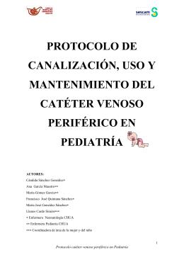 Catéter venoso periférico en Pediatría