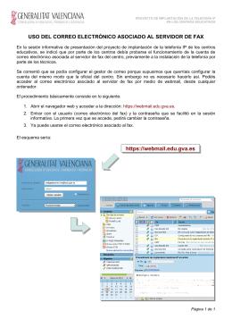 Uso del correo electrónico asociado al servidor de fax.