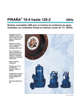 PIRAÑA 10-4 hasta 120-2