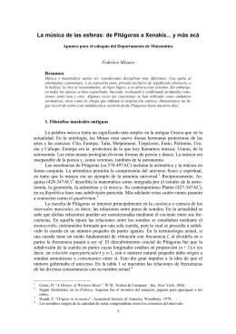 La música de las esferas: de Pitágoras a Xenakis