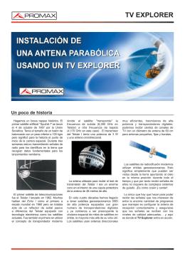 Instalacion de una antena parabolica usando un TV Explorer