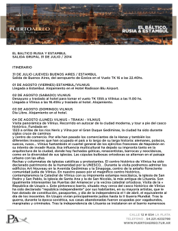 itinerario - Puerto Aéreo Viajes