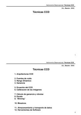 Técnicas CCD Técnicas CCD