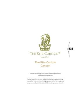 The Ritz Carlton Cancún - Premio Nacional de Calidad