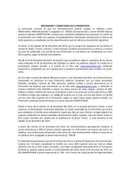 MECANISMO Y CONDICIONES DE LA