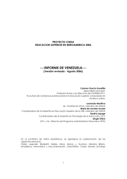 2007 – Informe Venezuela