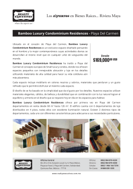 Bamboo Luxury Condominium Residences