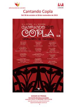 Dossier Cantando Copla 2015