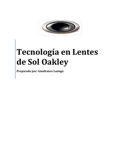 Oakley Eyewear Technologies