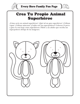 Crea Tu Propio Animal Superhéroe