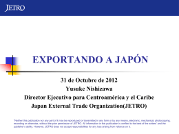 -Japan Trade Seminar- EXPORTANDO A JAPÓN