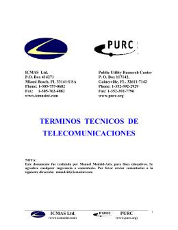 TERMINOS TECNICOS DE TELECOMUNICACIONES